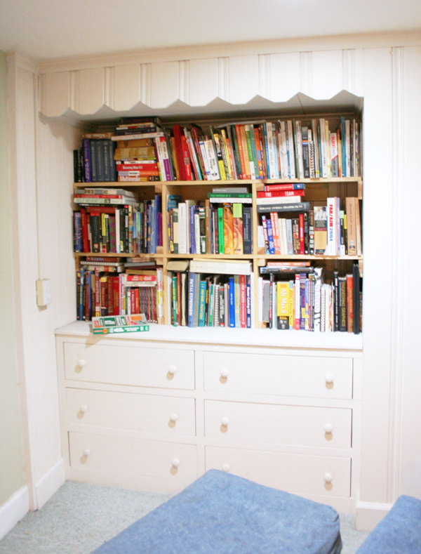 Reading Nook Shelf Before